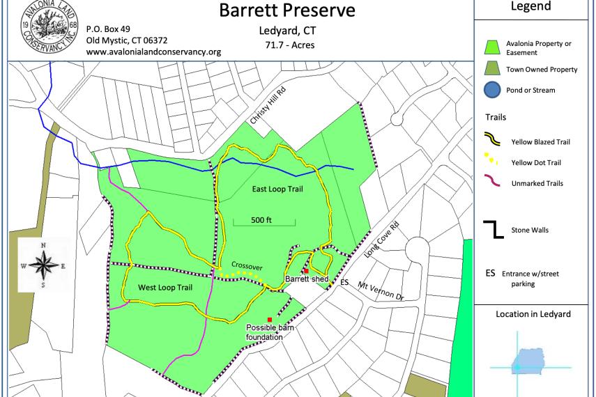 Barrett Preserve Trail Map