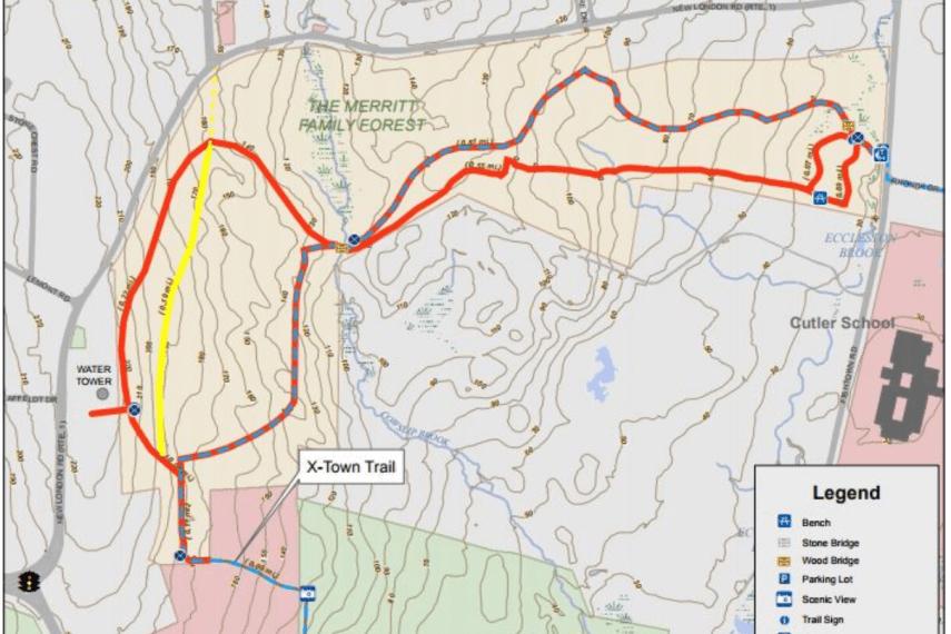 Merritt Family Forest Trail Map