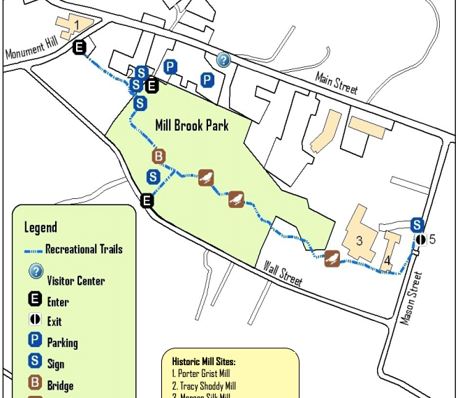 Mill Brook Park Trail Map