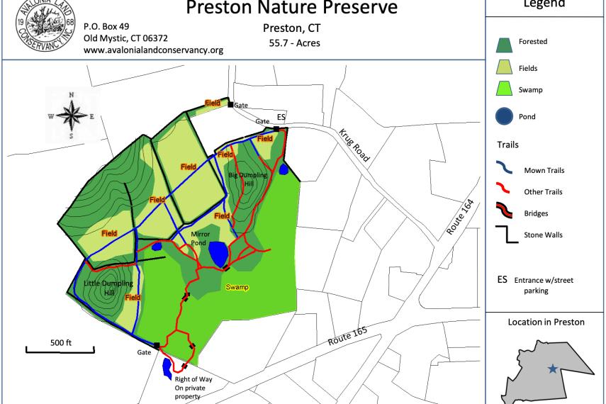 Preston Nature Preserve Trail Map