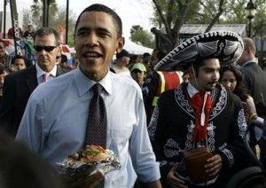 (Even Obama loves Sombrero Fest!) Photo credit/source: AP Photo/Rick Bowmer