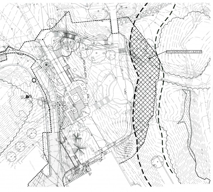 Site Plan with Construction Zone and Protected Area