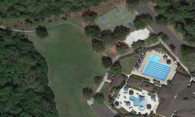 Country Club Park Aerial showing pool and tennis