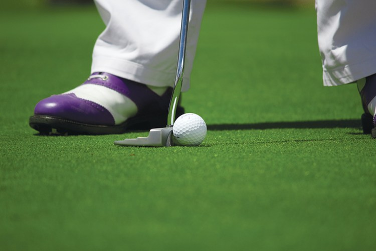 Golfer on Esplanade Golf Course