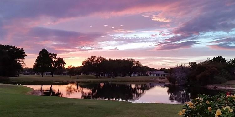 Sunset over Tara Golf Course