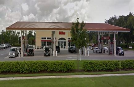 wawa storefron with gas pumps
