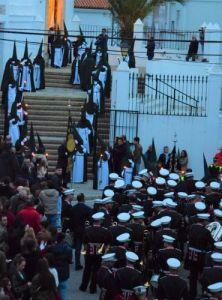 Nazarenos en verde el miercoles santo Vejer de la frontera, Cádiz, Spain Explore la Tierra Semana santa easter week