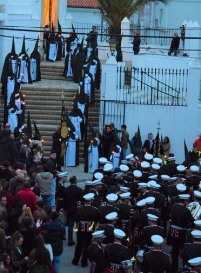 Nazarenos en verde el miercoles santo Vejer de la frontera, Cadiz, Spain Explore la Tierra Semana santa easter week