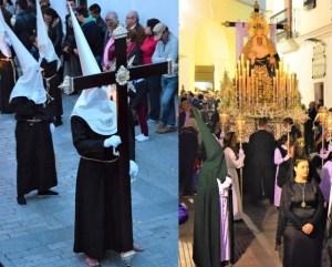 Nazarenos en verde y blanco el miercoles santo Vejer de la frontera, Cádiz, Spain Explore la Tierra Semana santa easter week descalzo