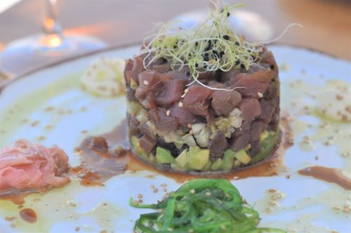 Atlantic Bluefin tuna tartar vejer de la frontera Explore la Tierra day tour