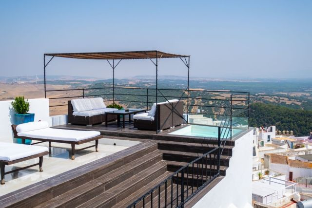 Hotel V... views places where to stay in Vejer