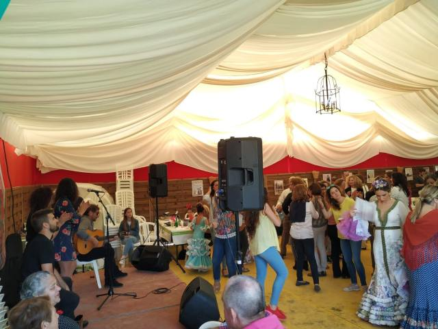 Vejer de la Frontera Spring fair in Cadiz flamenco show
