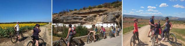 Setenil de las bodegas biking bike and hike in the mountains tour operators in Spain