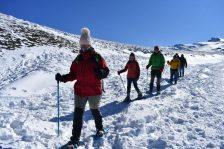 Ruta senderismo en la nieve Granada tour operadores España