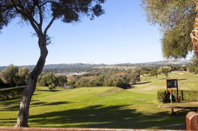 Cadiz golf courses in Montenmedio with views of Vejer de la Frontera white town in Cadiz