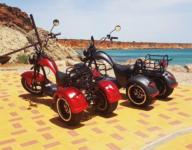 Ruta con alquiler de bicicletas y motos eléctricas Conil de la Frontera y Roche Cádiz