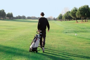 Walking golf course