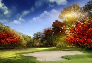 Fall golf in Minnesota