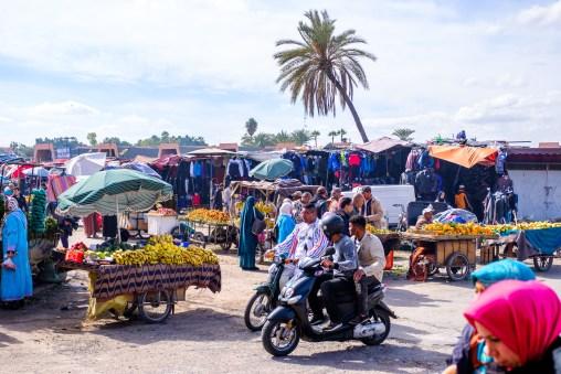 Vor den Toren der Medina von Marakkech