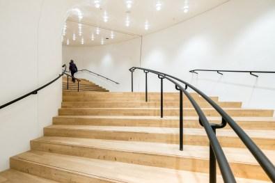 Der Aufgang zum grossen Saal der Elbphilharmonie