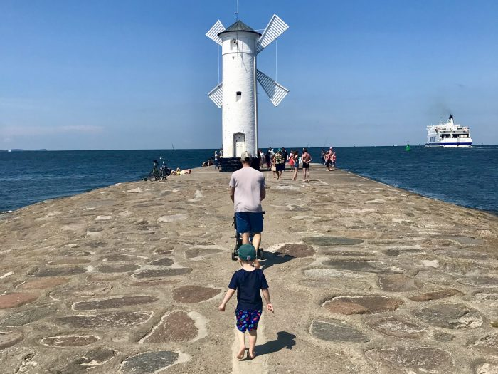 Thewindmill lighthouse at Swinoujscie