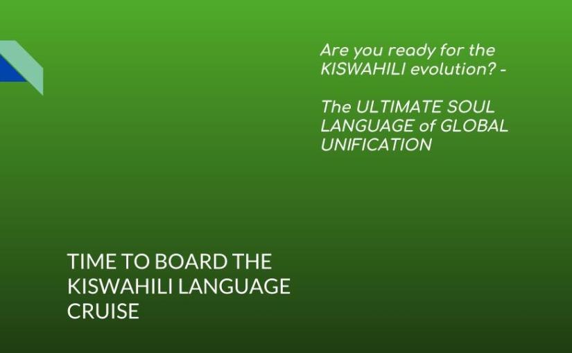 Learn Kiswahili #THELANGUAGEREVOLUTION… at your doorstep with Joseph Sarimbo…! Lesson One