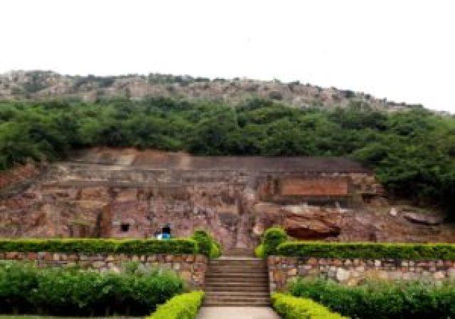 Son bhandar cave at rajgir, an historical landmark