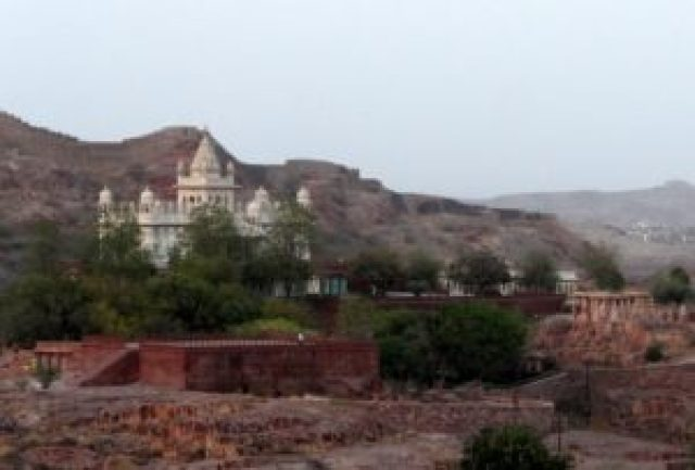 View of Jashwant Thada from Mehrangarh Fort , Jodhpur