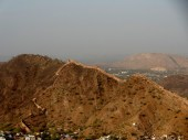 Security wall on the Aravali hill
