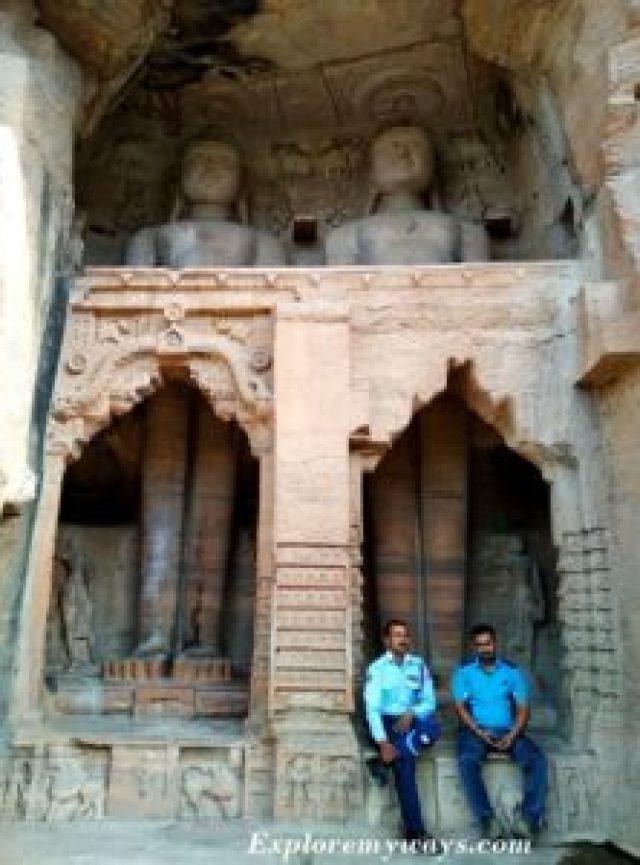 Jain Rock cut sculpture