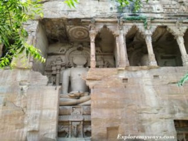 Jain rock cut sculptures of Gopachal Parvat Gwalior