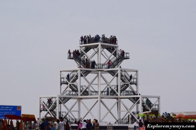 watch tower of white desert