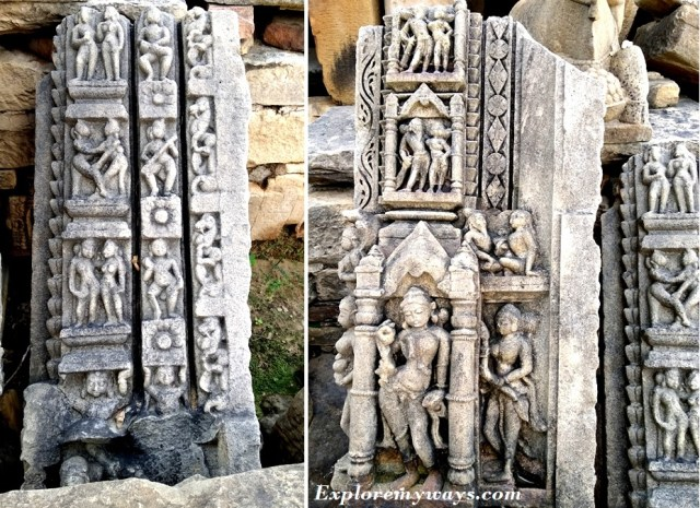 Sculptures at Bateshwar group of temples