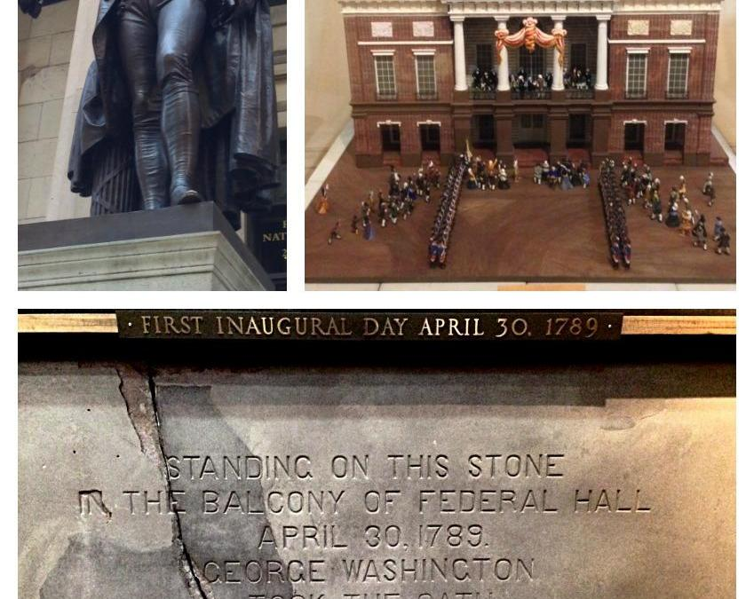 One this day in New York City: April 30th, 1789, George Washington was inaugurated president of the United States