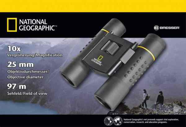 National Geographic – 10×25 Compact Binoculars