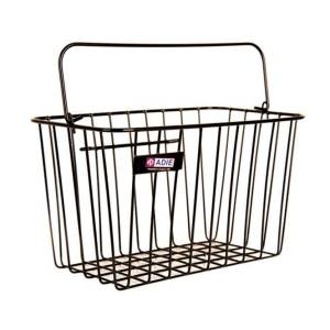 Adie Front Basket With Holder – Black