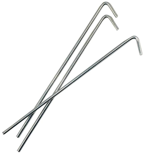 9″ Steel Roundwire Pegs, 100 Pack