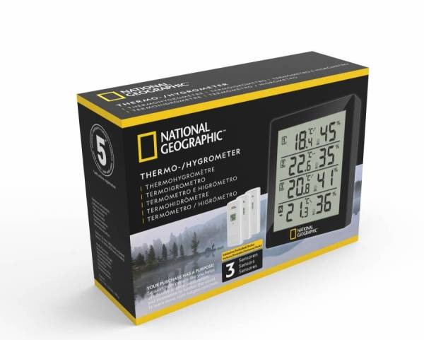 National Geographic – Thermo-/Hygrometer black 4 measurement results