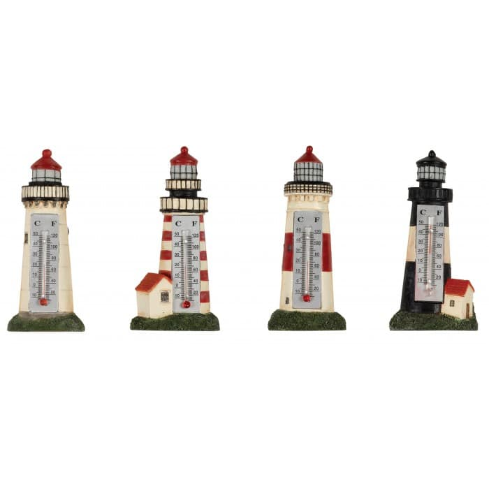 Lighthouse Thermometer Magnets, 4 assorted