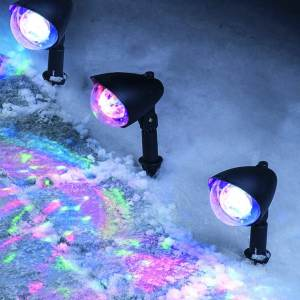 LED Disco Ball Pathway Lights Multi-Colour Set of 3