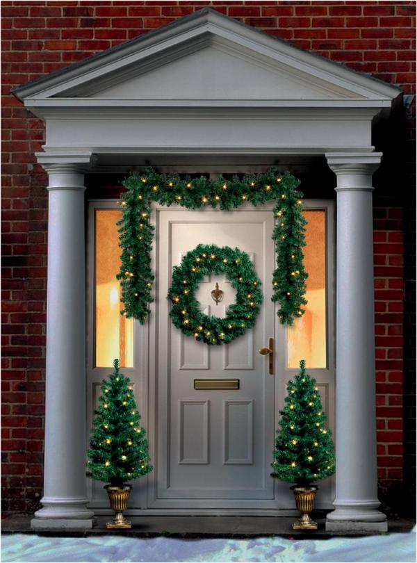 LED Christmas Door Decorations Set