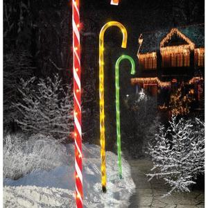 62cm 4 Piece Candy Cane Lights with 40 MultiLEDs