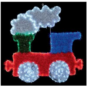 LED Christmas Train Tinsel Light