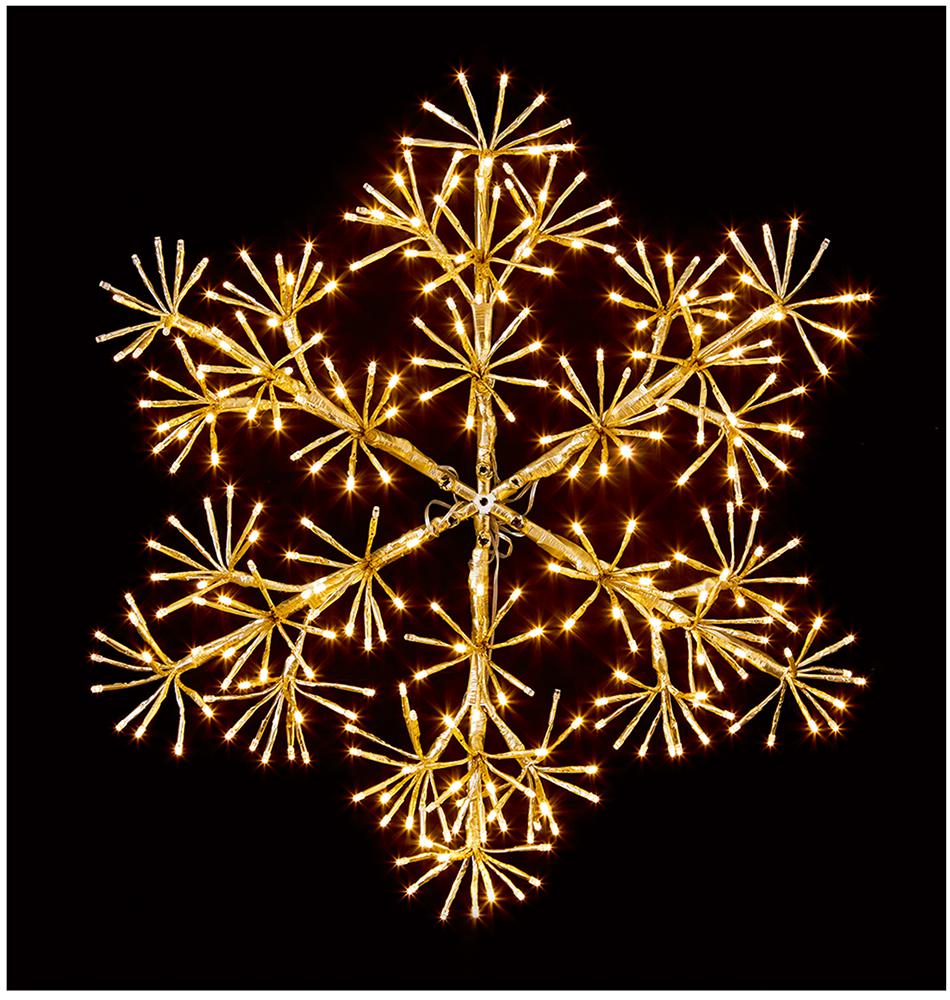60cm Gold Starbust with 300 Warm White LEDs