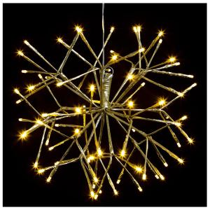 40cm Matt Gold Sputnik with Warm White LEDs