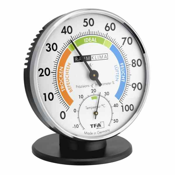 TFA – Analog thermo-hygrometer with metal ring