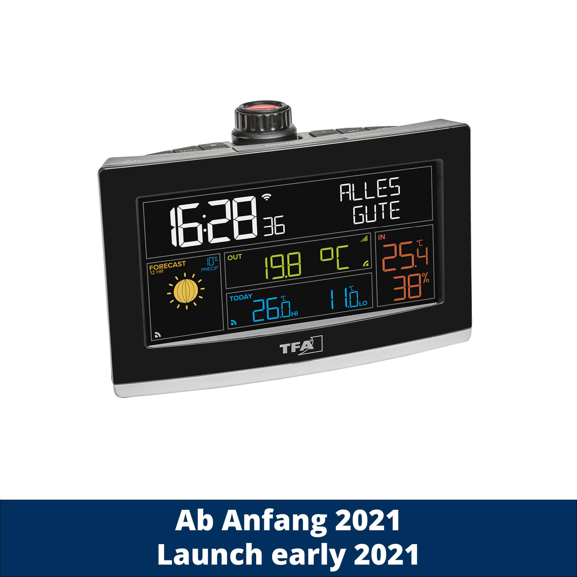 TFA – Projection alarm clock with WLAN VIEW SHOW