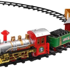 Deluxe Battery Operated Christmas Train Set