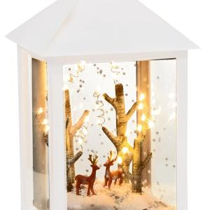 32cm White Snow Blowing Christmas Lantern