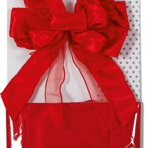 Red Christmas Ribbon Door Bow